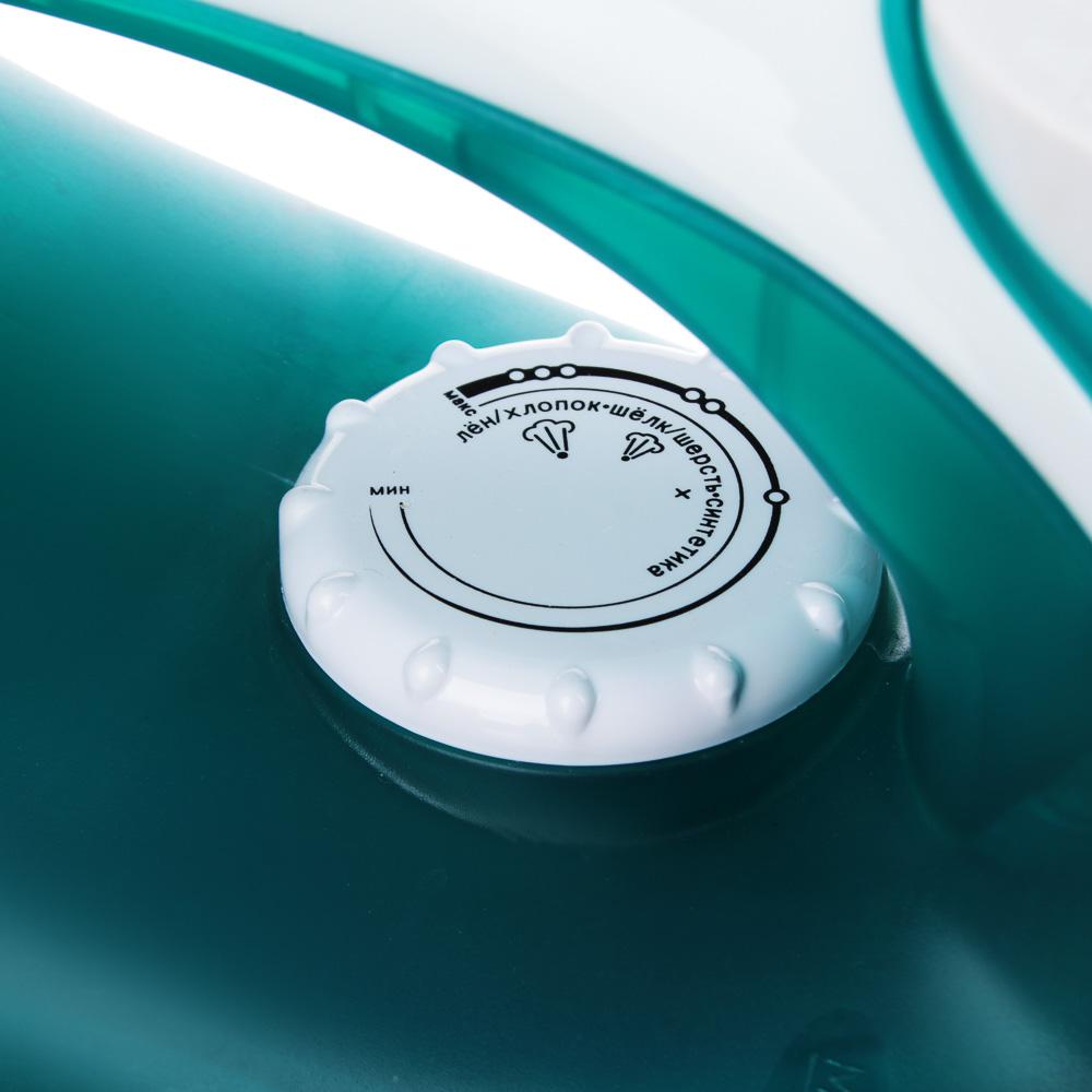 LEBEN Утюг с отпаривателем 2200Вт, подошва с тефлоновым покрытием, голубой, арт.№ 249-007