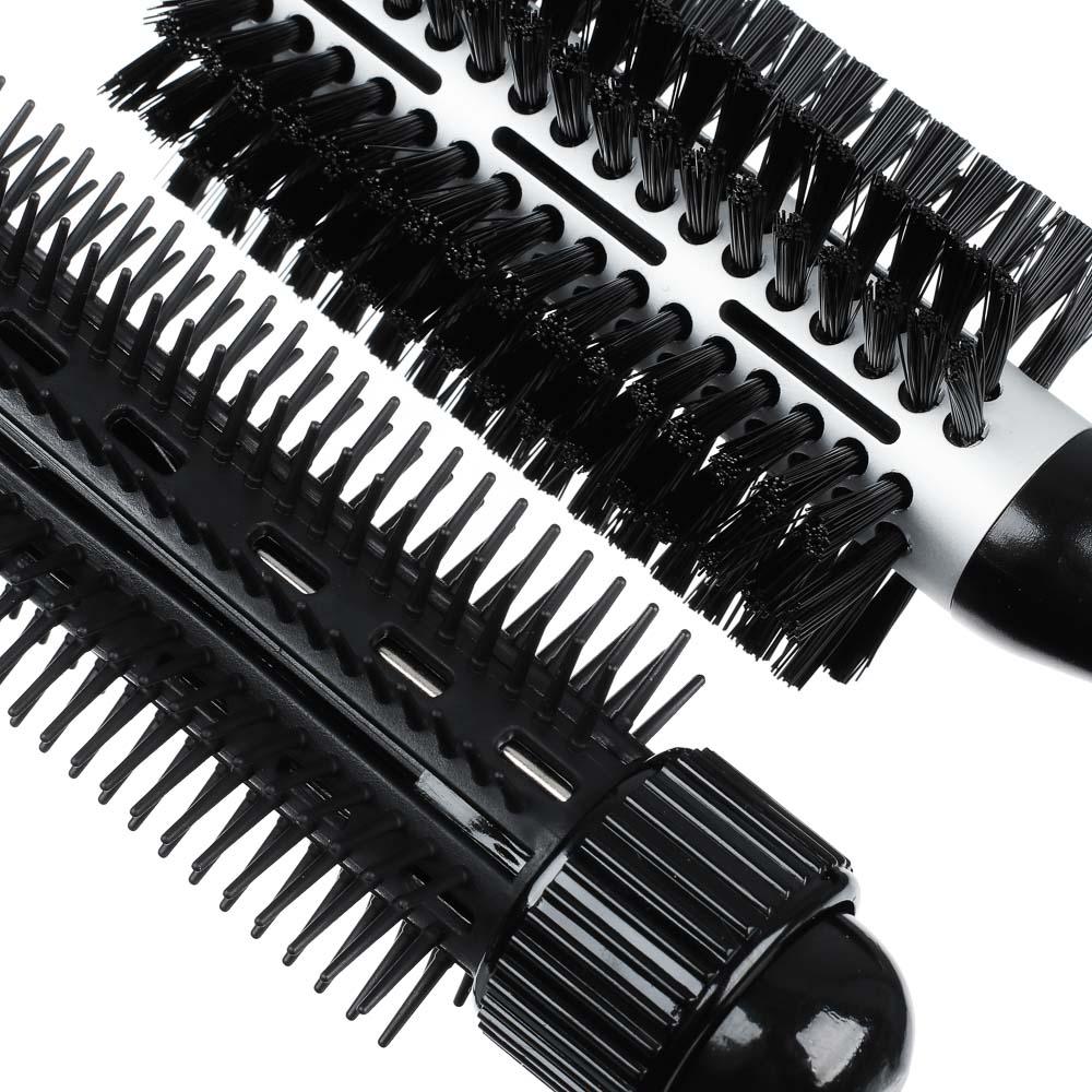 LEBEN Фен-щетка для волос, 800Вт, 3 темп. реж., 2 насадки НТ-8300, арт.№ 259-129
