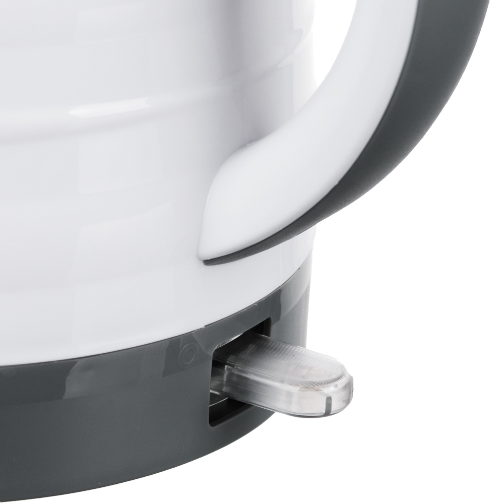 LEBEN Чайник электрический 1,7л, 1850Вт, скрытый нагр. элемент, пластик, белый, серый, арт.№ 291-034