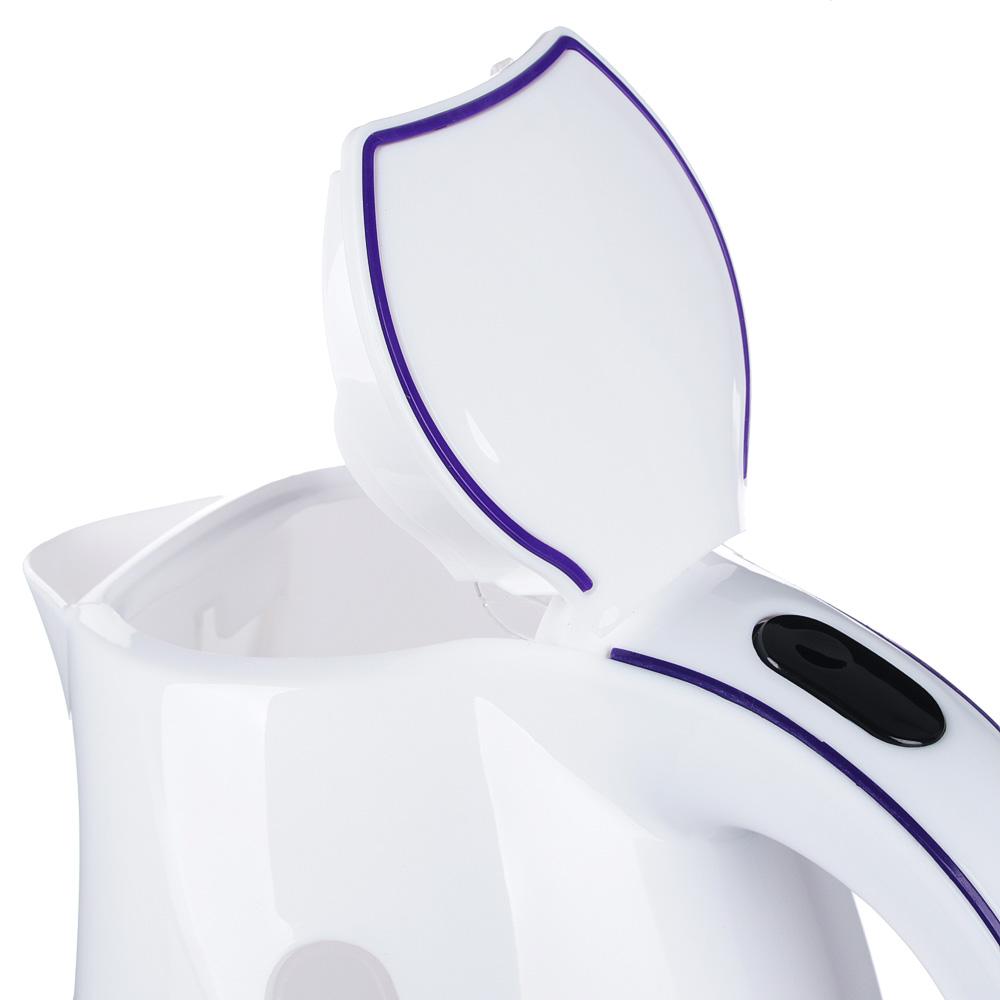 LEBEN Чайник электрический 1,7л, 1850Вт, скрытый нагр.элемент, пластик, T-8801, арт.№ 291-043
