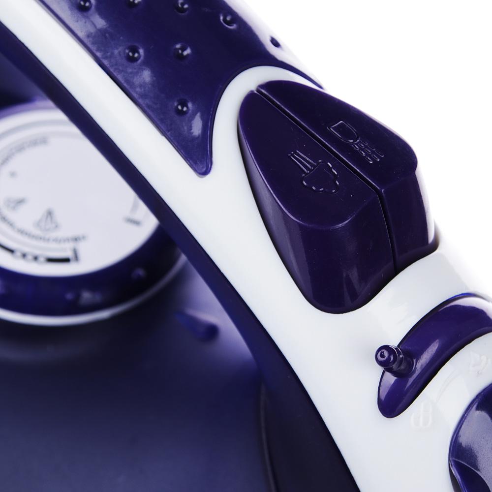 LEBEN Утюг с отпаривателем 2200 Вт, подошва - керамическое покрытие, ES-2098, арт.№ 249-016