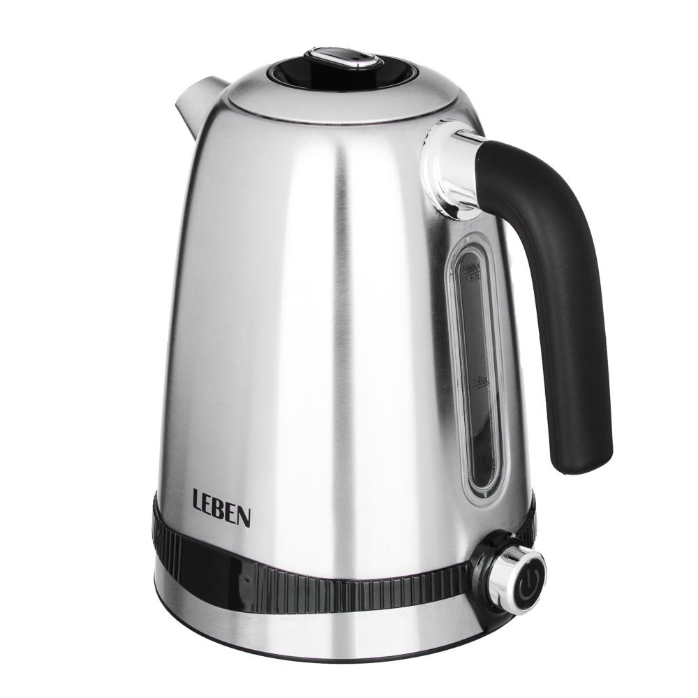 LEBEN Чайник электрический 1,7л, 1850Вт с функц. поддержания температуры, арт.№ 291-059