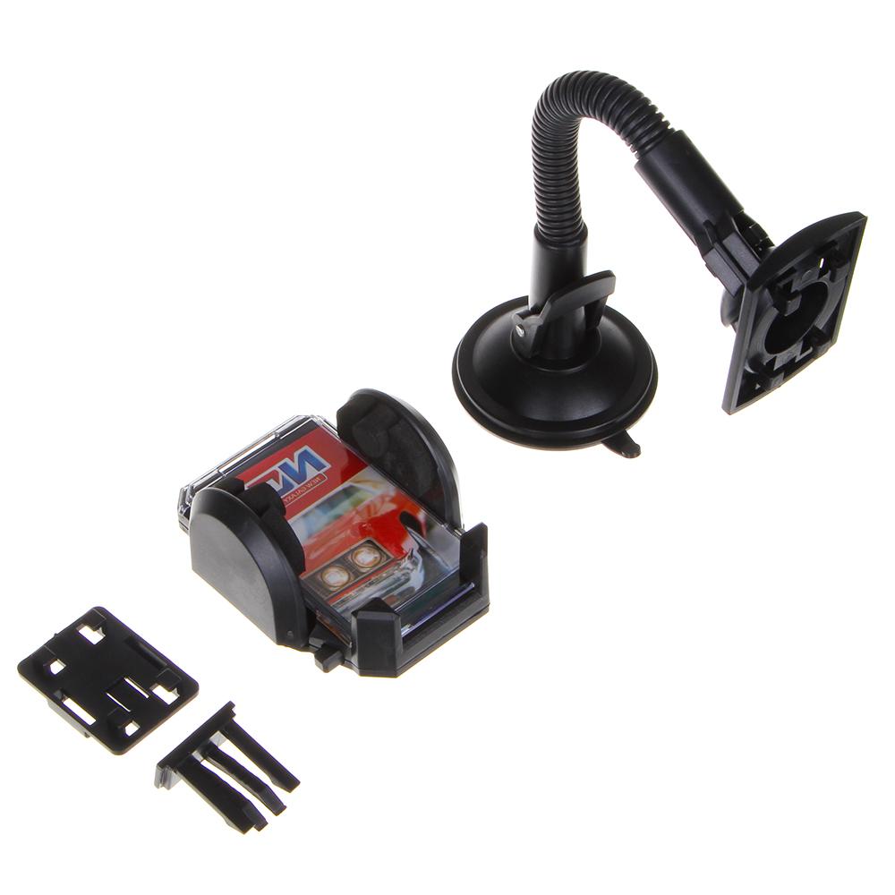 NG Держатель телефона, GPS, КПК на присоске, раздвижной, 50-115мм, на гибкой ножке, пластик, арт.№ 733-029