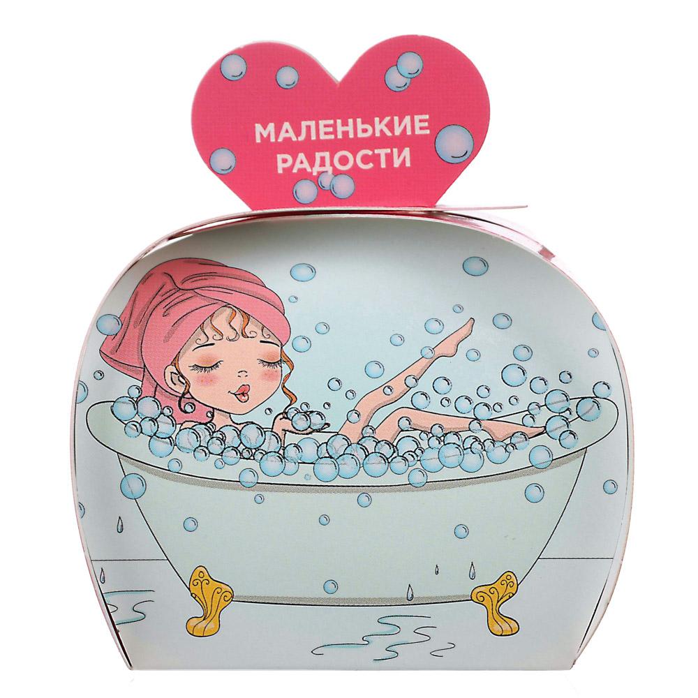 """Соль шипучая ароматизированная в подарочной коробке """"Маленькие Радости"""",5 видов,40г, арт.№ 937-072"""