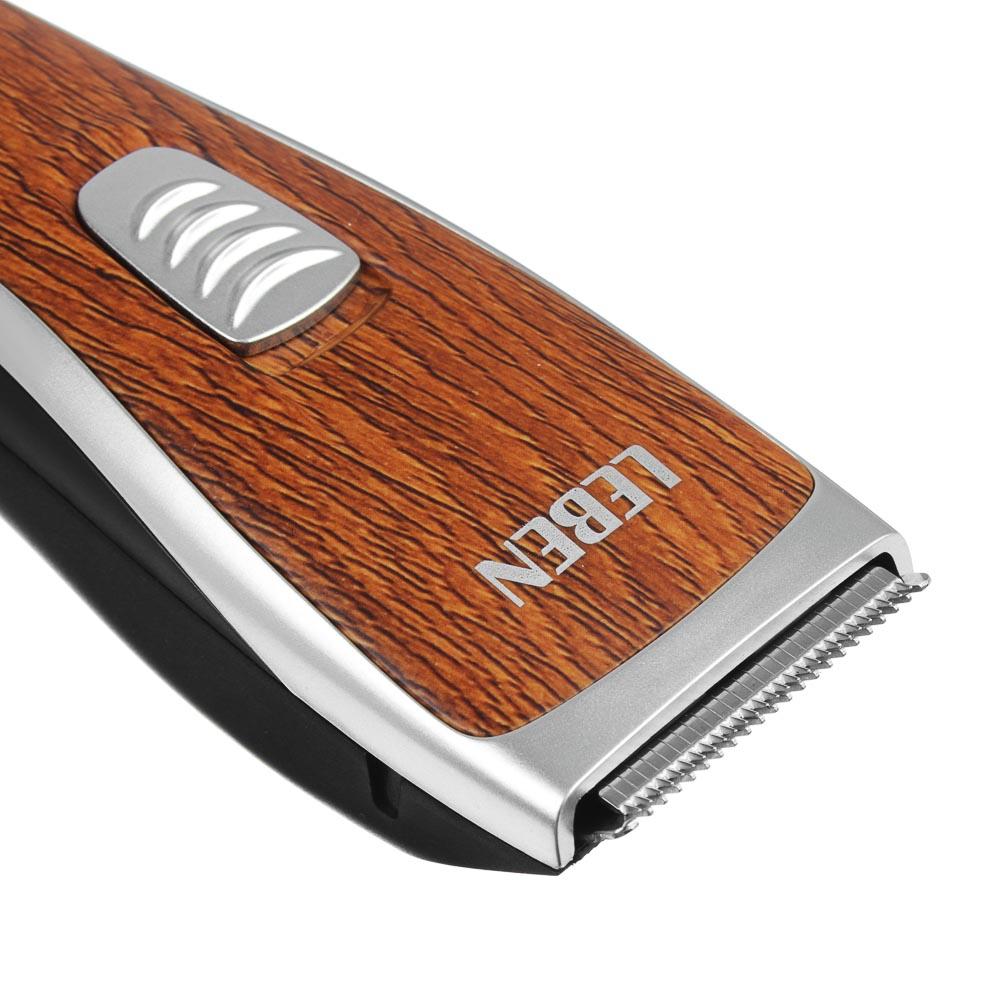 LEBEN Машинка для стрижки волос, 3 Вт, под дерево, регулируемая насадка, арт.№ 251-072