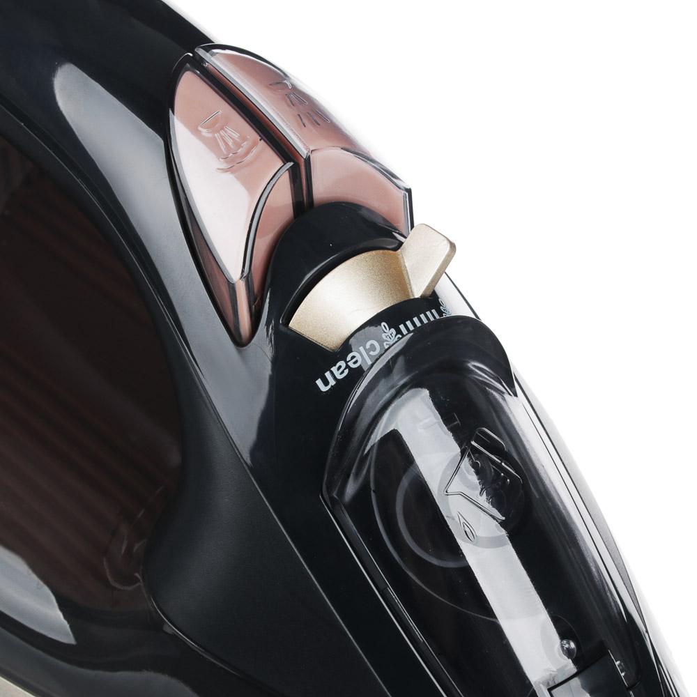 LEBEN Утюг с отпаривателем 2600 Вт, подошва - керамическое покрытие, сенсор, арт.№ 249-034